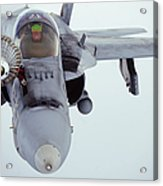An Fa-18 Super Hornet Receives Fuel Acrylic Print