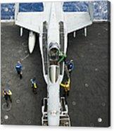 An Fa-18c Hornet Aircraft Acrylic Print