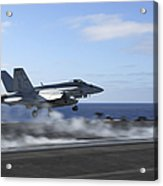 An Fa-18e Super Hornet Catapults Acrylic Print