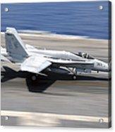An Fa-18e Super Hornet Lands Aboard Uss Acrylic Print