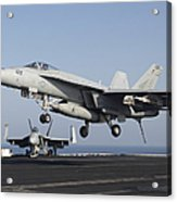 An Fa-18e Super Hornet Prepares Acrylic Print