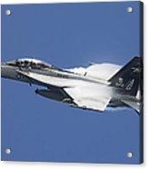 An Fa-18f Super Hornet In Flight Acrylic Print