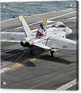 An Fa-18f Super Hornet Traps An Acrylic Print