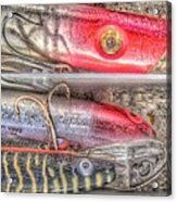 An Hdr Of Fishing Lures Acrylic Print