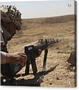 An Iraqi Army Soldier Prepares To Fire Acrylic Print