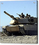 An M1a1 Main Battle Tank Acrylic Print