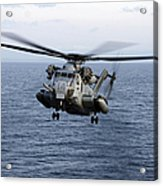 An Mh-53e Sea Dragon In Flight Acrylic Print