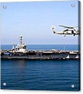 An Mh-60r Sea Hawk Flies Acrylic Print