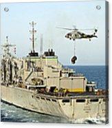 An Mh-60s Knighthawk Lifts Cargo Acrylic Print