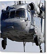 An Mh-60s Seahawk Delivers A Pallet Acrylic Print