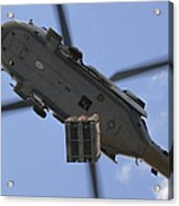 An Mh-60s Seahawk Helicopter Airlifts Acrylic Print