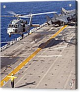 An Mh-60s Seahawk Helicopter Prepares Acrylic Print