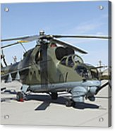 An Mi-24 Hind Helicopter Acrylic Print