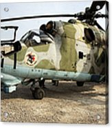 An Mi-24 Russian Helicopter Acrylic Print