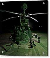 An Oh-58d Kiowa Helicopter At Cob Acrylic Print