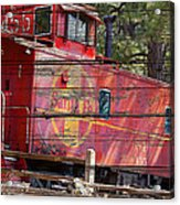 An Old Caboose  Acrylic Print