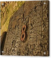 An Old Door At A Prison Acrylic Print