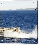 An Sh-60f Seahawk Helicopter Follows Acrylic Print