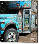 Anandapur Blue Bus Animal Kingdom Walt Disney World Prints Ink Outlines Acrylic Print