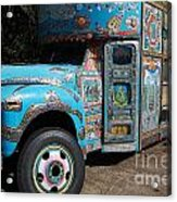Anandapur Blue Bus Animal Kingdom Walt Disney World Prints Acrylic Print