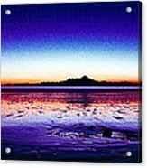 Anchor Point Beach Twilight Acrylic Print