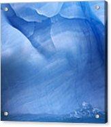 Ancient Blue Iceberg, Detail, Antarctica Acrylic Print
