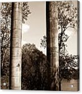 Ancient Columns By The River Acrylic Print