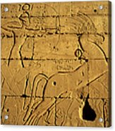Ancient Egyptian Carving, Ramesseum Temple, Luxor Acrylic Print