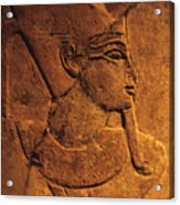 Ancient Egyptian Carving, Temple Of Luxor, Egypt Acrylic Print