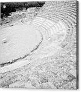Ancient Site Of Roman Theatre At Salamis Famagusta Turkish Republic Of Northern Cyprus Trnc Acrylic Print by Joe Fox