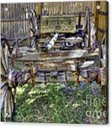 Ancient Wagon Frame Acrylic Print
