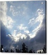And The Clouds Opened Up Acrylic Print