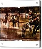 and the winner is - A vintage processed Menorca trotting race Acrylic Print