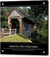 Andover Nh Historical Bridge Acrylic Print by Jim McDonald Photography