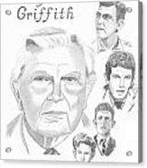 Andy Griffith Acrylic Print by Gail Schmiedlin