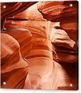 Anelope Canyon - What A Wonderful World Acrylic Print