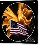 Angel Fireworks And American Flag Acrylic Print by Rose Santuci-Sofranko