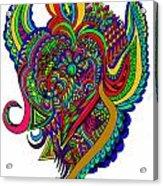 Angel Acrylic Print by Karen Elzinga