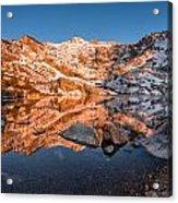 Angel Lake Alpenglow Acrylic Print