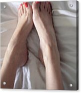 Angel Toes Acrylic Print by Tos