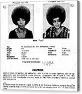 Angela Davis Fbi Wanted Ad, August 8th Acrylic Print by Everett