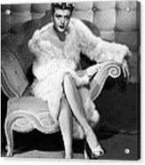 Angela Lansbury, 1946 Acrylic Print