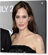 Angelina Jolie At Arrivals For Salt Acrylic Print