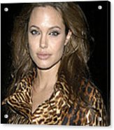 Angelina Jolie At Sharkspeare In The Acrylic Print