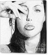 Angelina Jolie Pencil Art Acrylic Print