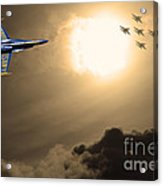 Angels In The Sky . Partial Sepia Acrylic Print by Wingsdomain Art and Photography