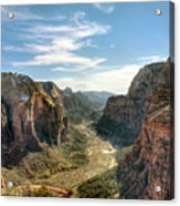 Angels Landing - Zion National Park Acrylic Print by Bryant Scannell