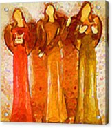 Angels Rejoicing Together Acrylic Print