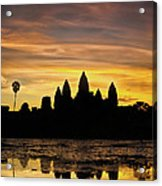 Angkor Wat At Sunrise II Acrylic Print