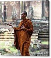 Angkor Wat Monk Acrylic Print